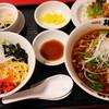 棒棒 - 料理写真:台湾ラーメンとジャージャー丼セット980円 3,4月限定