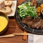 ポコポコぺぺのハンバーグ屋さん - 三田牛のステーキ
