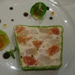 81904861 - 魚介とジャガイモのテリーヌ