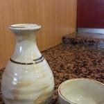 とんかつ にいむら - 日本酒から超辛口 金陵一合380円を常温