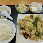 中国料理 露華 - 料理写真:・「Aセット 回鍋肉(\590)」