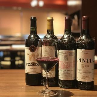 厳選のスペインワインを中心にコスパを感じるワインリスト!