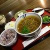 稲光 - 料理写真:稲光膳  そば、そば米と黒米入りご飯、そば豆腐、香の物950円