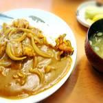 板鼻館 - 昭和のカレー    お味噌汁  お新香つき