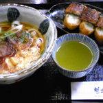 8191709 - 鰻まぶしのいなりセットです。いなり寿司が美味い!