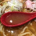焼きあご塩らー麺 たかはし - スープ接写。