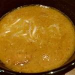 つけ麺屋 ちっちょ 神山本店 - 鶏ガラ豚骨煮干のスープ