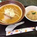 つかもと - 料理写真:味噌ラーメン チャーハンセット ¥900