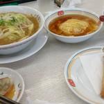 餃子の王将 八幡店 - 野菜煮込みラーメンと天津飯と春巻きと餃子