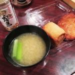 大學堂 大學丼食堂 - 注文は「味噌汁」のみ。(つまり100円しか払わん客。)