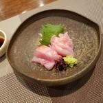 割烹 なり田 - 料理写真:「金目鯛の刺身(三重産) (1000円)」