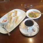 煎豆茶館 杣 - 料理写真:「杣 (450円)」+「サンドイッチセット (+380円)」