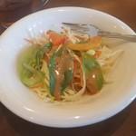 煎豆茶館 杣 - モーニングの「野菜たっぷりサラダ」