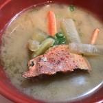 旬魚たつみ - 蟹汁です。