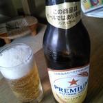 あおぞら銭函3丁め - 車なのでノンアルコールビール。
