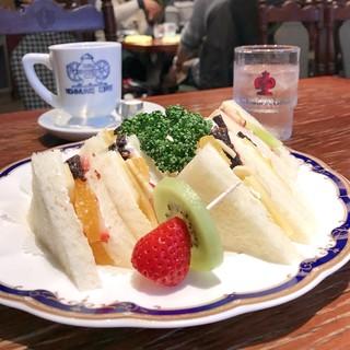 神戸にしむら珈琲店 中山手本店 - フルーツサンドセット