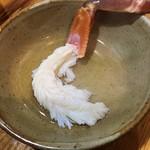 旬魚たつみ - 蟹のしゃぶしゃぶです、