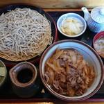 手打ちそば 花千里 - 料理写真:牛丼セット