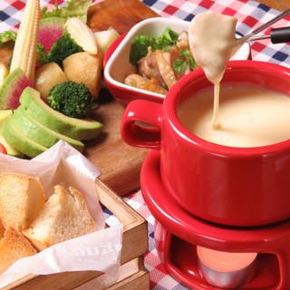 ワインと楽しむチーズ&チーズディナーコーススタート!