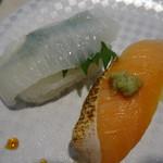 魚べい - えんがわと焼きサーモン
