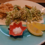 料理 吉祥寺 わるつ - 桜海老のかき揚げと春野菜の天ぷら