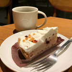 スターバックスコーヒー - フルーツレアチーズケーキとドリップコーヒー