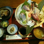地魚料理 まるさん屋 - お刺身御膳1500円(税前)