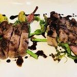 cafe&BistroKitchen Belle anse - メイン  豚肉バルサミコ酢ソテー、鎌倉野菜