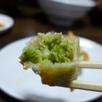 青竹手打ちらーめん 渡辺屋 水月 - 野菜がぎっしり。