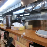 じれっ亭 - カウンターと厨房