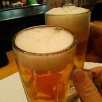 味処 一合半 ぶん家 - やっとビールにありつける