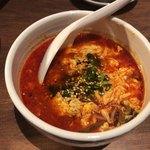 焼肉ホルモン 青一 - ユッケジャンスープ