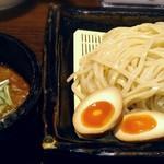 81937413 - 【魚介とんこつつけ麺 + 味玉】¥780 + ¥100