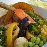 スープカレー plus one - 18種類の彩り野菜スープカレー