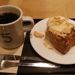 ファイブ・クロスティーズ・コーヒー - ブレンドコーヒー、ブラウン塩バターブレッド