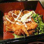 魚然 - 若鶏の竜田揚げ油淋ソース