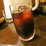 魚然 - 食後のアイスコーヒー