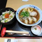 そば酒房 凛や - 牡蠣蕎麦+ズワイガニ小丼