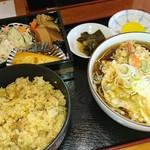 そば処小代 - 料理写真:とりまぶしと、そば定食1,000円(税込)
