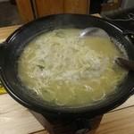 炊き餃子と鶏すき大衆酒場 仕事鶏A - 追加の麺(浅草開化楼特製麺)190円