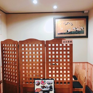 席だけ予約。個室感覚のテーブル席でゆっくりお食事。