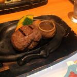 炭焼きレストラン さわやか - おにぎりハンバーグ(ジュージュー前)