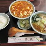 龍鳳 - レディースセット(麻婆豆腐、醤油ラーメン)
