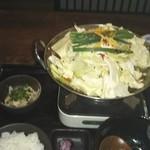いっぱち  - ランチのもつ鍋定食 柚子醤油 1000円税別