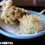 田舎うどん てつ - 天ぷら