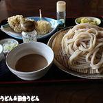 田舎うどん てつ - てっぴーうどん+天ぷら