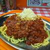 スパゲッティーのパンチョ - 料理写真:白ナポリタン大盛ミートがけ