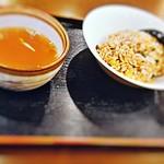 ラーメンいりき - 炒飯(小)と付属のスープ