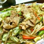 栄楽 - 肉野菜炒め アップ