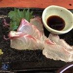むちゃく - 真鯛の刺身が付く